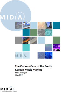 The Curious Case of the South Korean Music Market report
